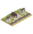 church cathedral neighborhood isometric vector image vector image