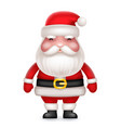 cute 3d realistic cartoon santa claus toy vector image vector image