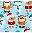 cute bear pattern frosty vector image