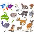 Educational australian animals set