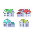 family home in flat style vector image vector image