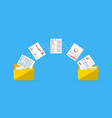 files transfer documents management vector image vector image