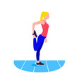 fit woman stretching warmup girl do sports vector image vector image