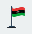 flag of libyaflag stand vector image