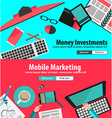 flat design concepts for business planning vector image