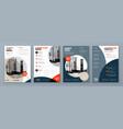 flyer design set modern background vector image vector image