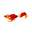 geometric squirrel polygonal technology vector image vector image