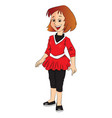 girl smiling vector image vector image