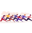 group running people colorful runners man and vector image vector image