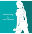 healthy body and beautiful figure vector image vector image