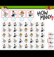 how many people at work counting game vector image vector image