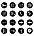 internet icons set - website buttons vector image