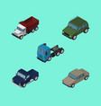 isometric transport set of freight armored suv vector image vector image