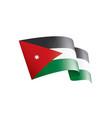 jordan flag on a white vector image vector image