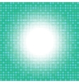 Light halfton on green digital background vector image vector image