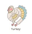 Lineart turkey vector image vector image