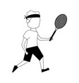male tennis player athlete sport avatar icon image vector image vector image
