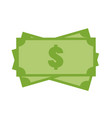 money icon on white background money sign flat vector image vector image