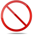 No sign Red prohibition sign vector image vector image