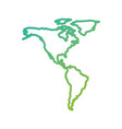 north and south america map communication network vector image vector image