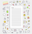notes and collection icons vector image