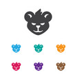 of zoo symbol on wildcat icon vector image