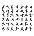 people in motion in different positions vector image