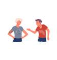 people quarrel screaming in conflict conversation vector image