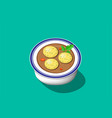 perspective view matzoh ball soup design vector image