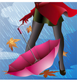 Pink Umbrella vector image
