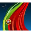 Portugal flag background vector image