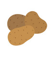 potato drawing isolated hand drawn vector image