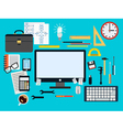 Programmer workplace concept vector image vector image