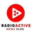 radio active logo flat style vector image vector image