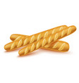 realistic 3d detailed french baguette set vector image