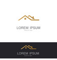 robuilding gold logo vector image vector image