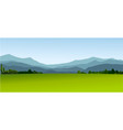 rural landscape with green fields vector image vector image