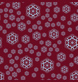 seamless pattern round shapes on red background vector image