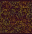 seamless pattern with citrus slices vector image