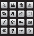 set of 16 editable school icons includes symbols vector image vector image