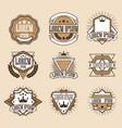 set retro vintage insignias or logotypes set vector image