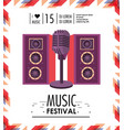 speakers and microphone to music festival vector image vector image