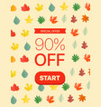 special offer concept 90 percent off vector image vector image
