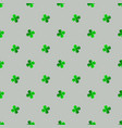 st patrick s day seamless background with clover vector image vector image