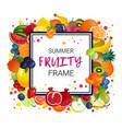 summer fruits frame background vector image vector image