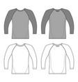 t shirt man template front back views vector image vector image