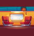 train inside interior empty railway commuter vector image vector image
