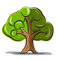 Tree - Abstract Tree Isolated on White Background vector image vector image