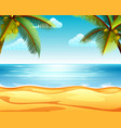 tropical beach view with the sandy beach vector image