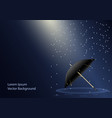 umbrella lying under the rain and sunlight through vector image vector image